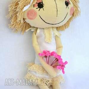 białe lalki lala anolinka - ręcznie wykonana lalka