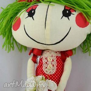 szyta lalki czerwone anolinka-szyta lalka z duszą