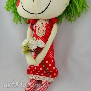 zielone lalki lalka anolinka-szyta z duszą