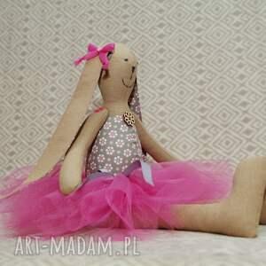 oryginalne lalki zając baletnica beżowy kwiatuszek