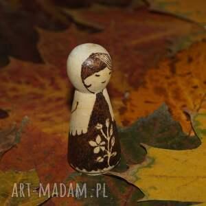 hand-made lalki kokeshi chiński kwiat - ręcznie wypalana