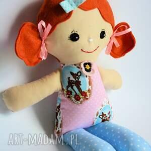 niebieskie lalki szmacianka cukierkowa lala - halinka 40 cm