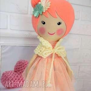 handmade lalki lalka duża baletnica w brzoskwiniowych