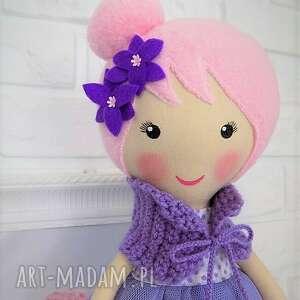 awangardowe lalki lalka duża baletnica w fioletowych