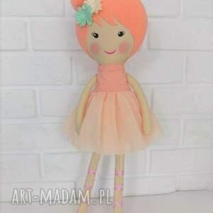 handmade lalki zabawka duża baletnica w brzoskwiniowych