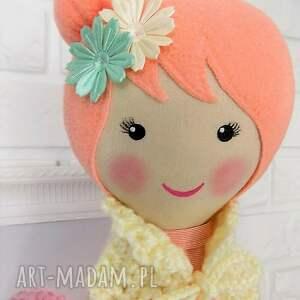 zabawka lalki duża baletnica w brzoskwiniowych