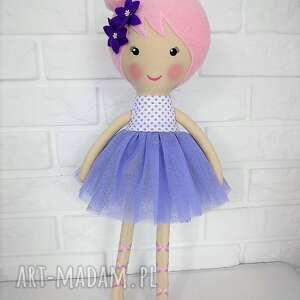 przytulanka lalki duża baletnica w fioletowych