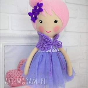 fioletowe lalki lalka duża baletnica w fioletowych