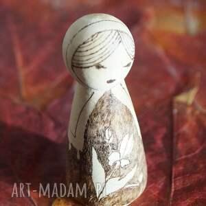 brązowe lalki retro irysowy uśmiech - ręcznie wypalana