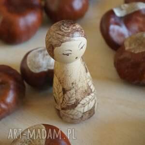 brązowe lalki jesień jesienna - ręcznie wypalana