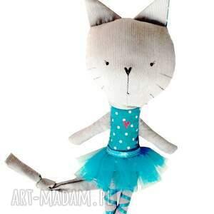 kot lalki turkusowe kieszonkowy kot. baletnica.
