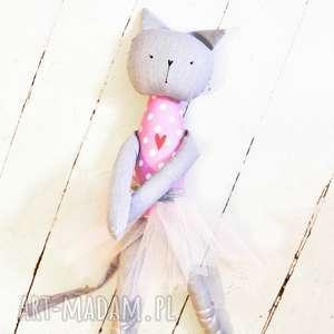 ręcznie robione lalki tutu kotka baletnica