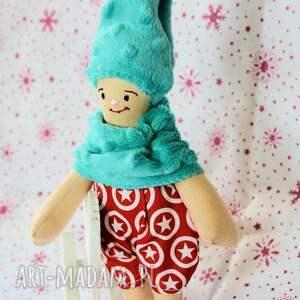 czerwone lalki lalka krasnal śpioszek