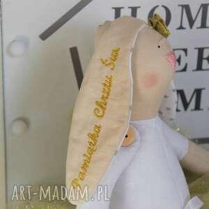 wyraziste lalki tilda królik pamiątka chrztu