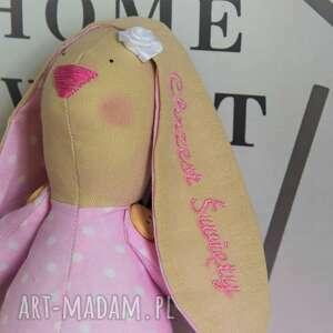 lalki królik tilda pamiątka chrztu