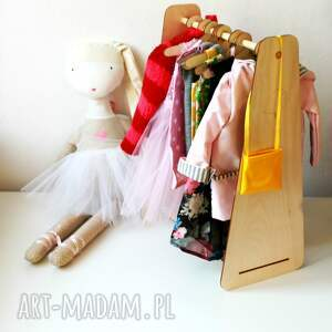 brązowe lalki kot kurtka z kapturem i tunika - outfit