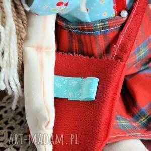 lalka lalki czerwone lala ręcznie malowana - basia