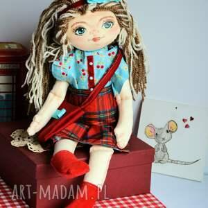 turkusowe lalki zabawka lala ręcznie malowana - basia