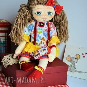 lalka lalki czerwone lala ręcznie malowana - rozalka