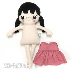 lalka lalki fioletowe laleczka bawełniana