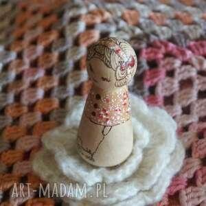eleganckie lalki retro laleczka calineczka - ręcznie