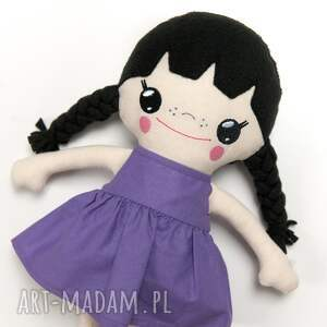 fioletowe lalki laleczka lalka bawełniana