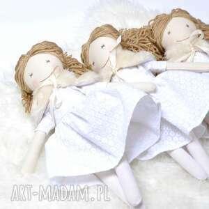 chrzest lalki lalka hand made w białej sukience