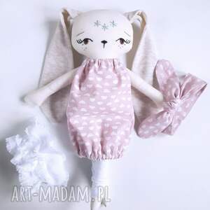 różowe lalki lalka królik malwinka