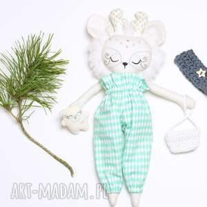 białe lalki lalka reniferka