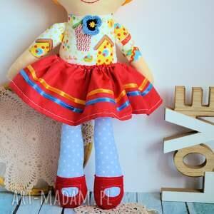 ręczne wykonanie lalki dziewczynka lalka rojberka - słodki łobuziak