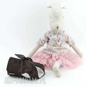awangardowe lalki lalka sarenka len, w falbaniastej
