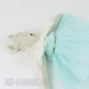 lalki przytulanka lalka sarenka w turkusowej sukience