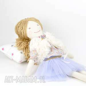pod choinkę prezent szmaciana lalka fioletowa tutu