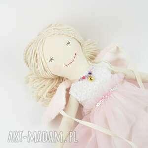 białe lalki dziewczynka lalka szmaciana helenka w różowej
