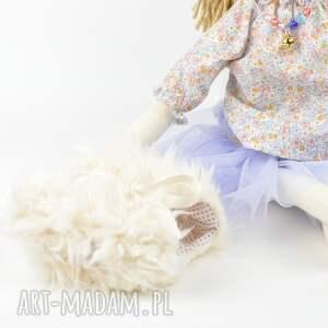 pod choinkę prezent lalka szmaciana fioletowa tutu