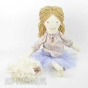 pod choinkę prezent niebieskie lalka szmaciana fioletowa tutu