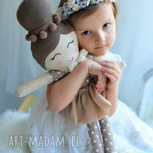 wyjątkowe lalki lalka szmacianka z kokiem
