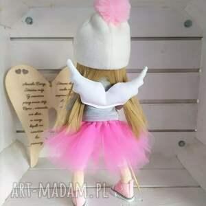FabryqaPrzytulanek Lalka szmacianka na prezent kolekcjonerska - Hand Made anioł-lalka