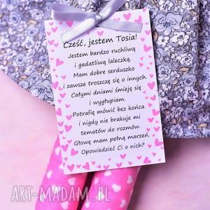 "lalka handmade lalki tosia należy do serii ""laleczek"
