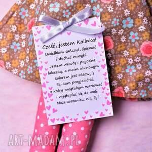 różowe lalki lalka szmacianka kalinka (opis
