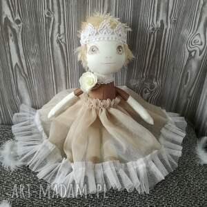 dziewczynka lalki brązowe lalka szyta - mała królewna