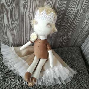 ciekawe lalki dziewczynka lalka szyta - mała królewna