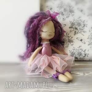 różowe lalki unikat lalka szyta - mała