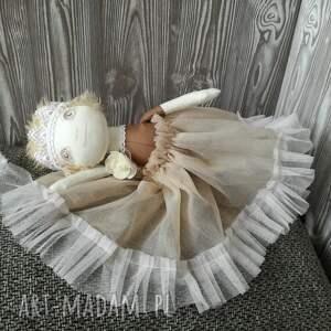 białe lalki unikat lalka szyta - mała królewna