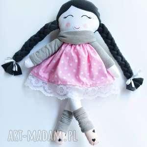 lalka-szmacianka lalki lalka w warkoczach z szalikiem