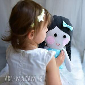 AtelierMalegoDesignu gustowne lalki lalka szmacianka w warkoczach z imieniem