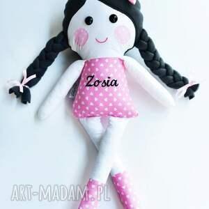 lalki lalka-szmacianka lalka w warkoczach z imieniem