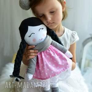 lalki lalka-szmacianka lalka w warkoczach z szalikiem