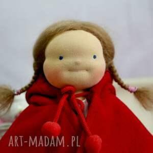 oryginalne lalki lalka waldorfska pusia czerwony