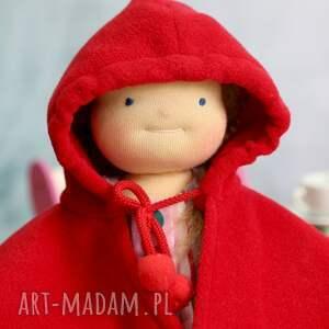 oryginalne lalki sukienka lalka waldorfska pusia czerwony